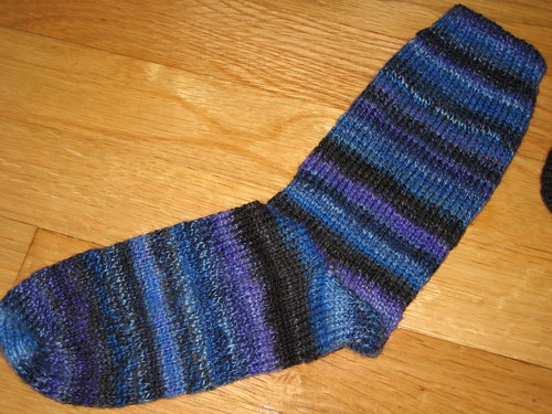 handspun socks - in progress