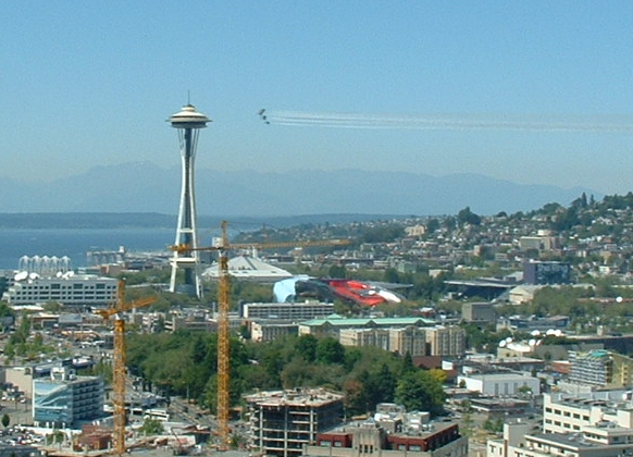 Blue Angels Fly Over Seattle