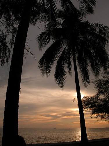 Sunset at Morib Beach