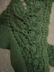 Elm leaf lace socks