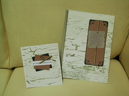 handmade notebook and card