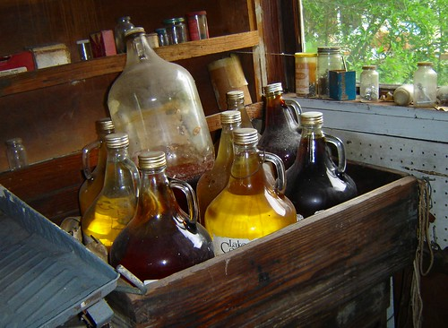 bottles in the shed
