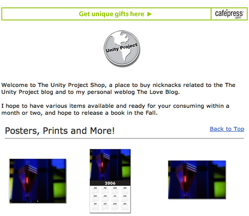 The Unity Project Cafepress Store