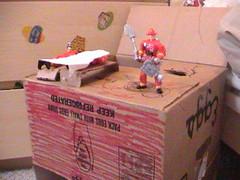 Firehouse from an Egg Box