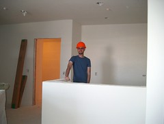 me, in the kitchen, with hardhat