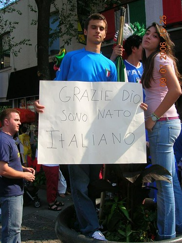 Thank God, we were born Italian.