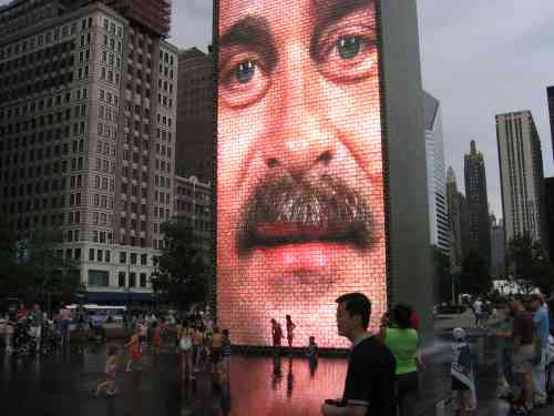 Crown Fountain in Millenium Park