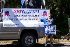 Sue Jeffers Banner and Truck