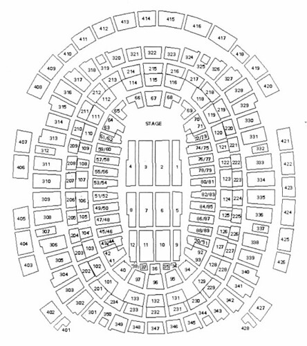 Madison Square Garden Seating Plan