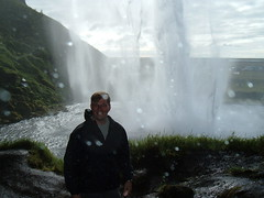 Me behind the Seljalandsfoss waterfall