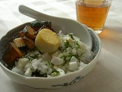 Light meal 塩卵のっけご飯