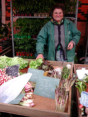 Market stall holder, Dijon, France