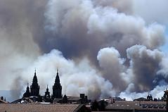 Santiago de Compostela el sábado por la tarde (Foto Pablo Sainz Garcia)