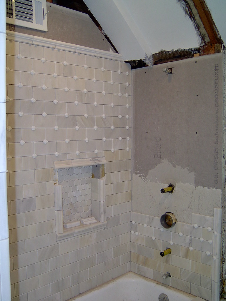 Shower Tile Started