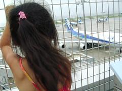 羽田空港で飛行機をみたよ