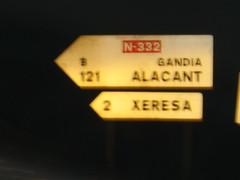 A la sortie de Xeraco