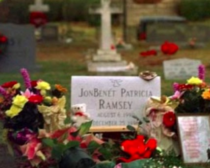 Grave of JonBenet Ramsey in Saint James Episcopal Cemetery in Marietta, Georgia