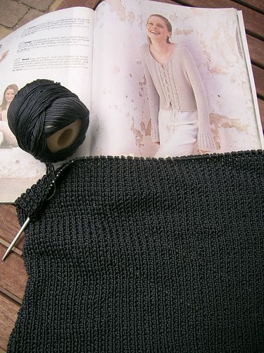 Grey Cardigan progress