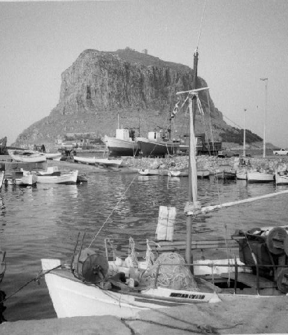Castle of Monemvasia from the shore
