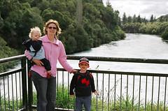 The family at Huka Falls