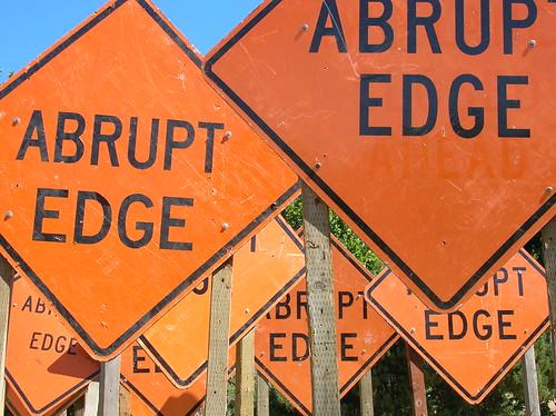 abrupt edge