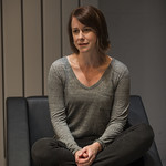Kate Fry (Tess) in MARJORIE PRIME at Writers Theatre. Photo by Michael Brosilow.