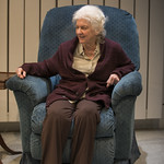 Mary Ann Thebus (Marjorie) in MARJORIE PRIME at Writers Theatre. Photo by Michael Brosilow.