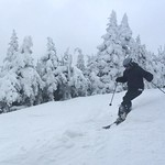 """3"""" on Upper Cannon this morning 01/02/16"""
