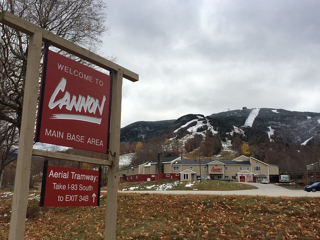 10/24/16 The first signs of winter have arrived at Cannon!