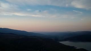 Smoke over the lake. California is burning