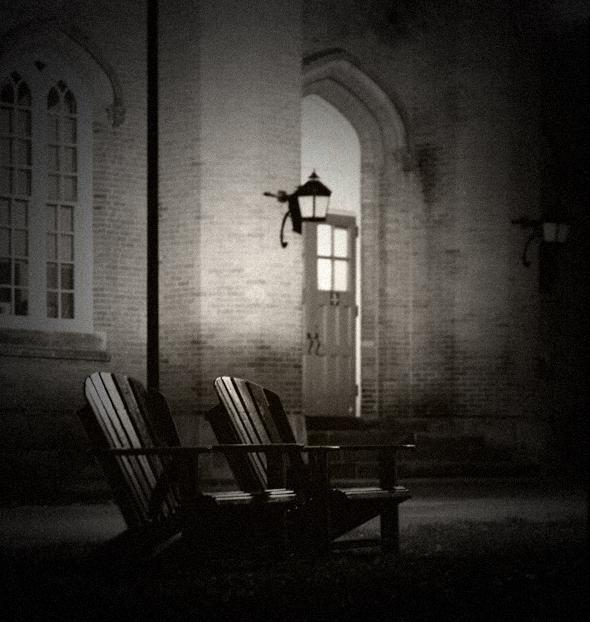 chairs, a pair