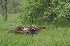 Abandoned farm equipment