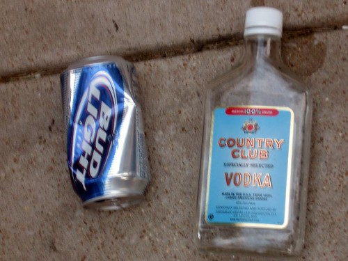 Discarded Premium Liquor