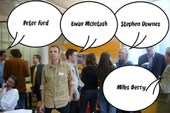 Famous blogerati at the blog.ac.uk.2006 conference!
