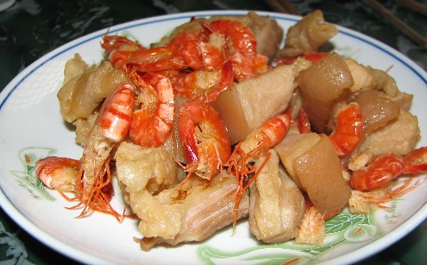 Hang's dish- stir fried prawn and pork