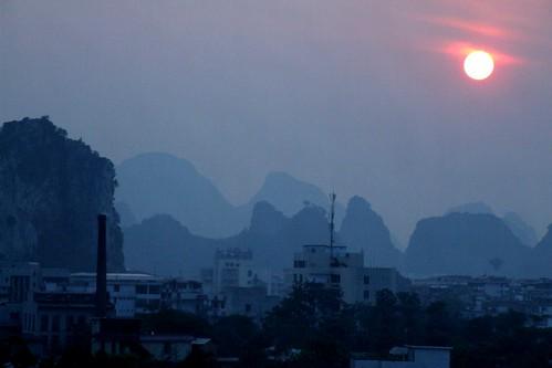 sunset - blue kurst mountains