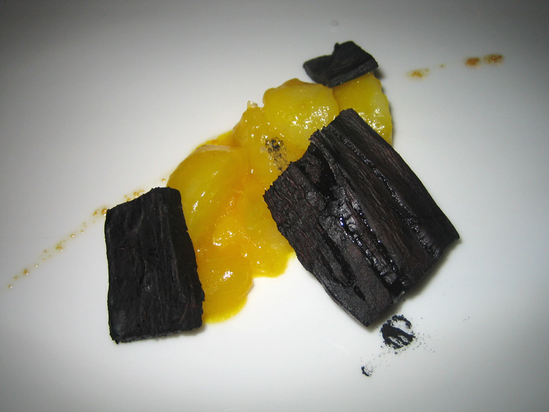 Mugaritz - Crushed Potatoes, Broken Eggs, and Vegetable Coal