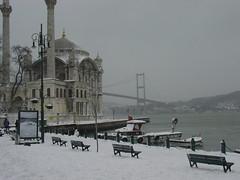 Ortaköy in winter