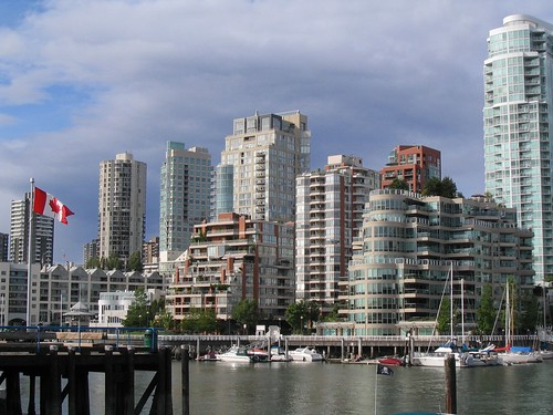 Vancouver Skyline w/ Oh Canada
