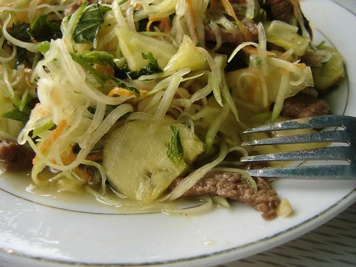 Beef & Papaya Salad