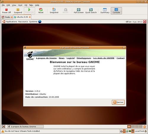 Gnome 2.15.2 dans la Edgy Eft