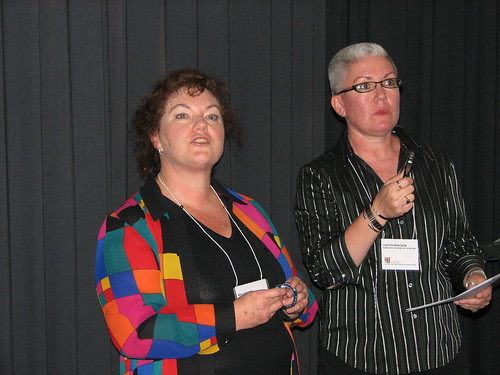 Bev Hodges from Bay of Plenty with Judith Peacock