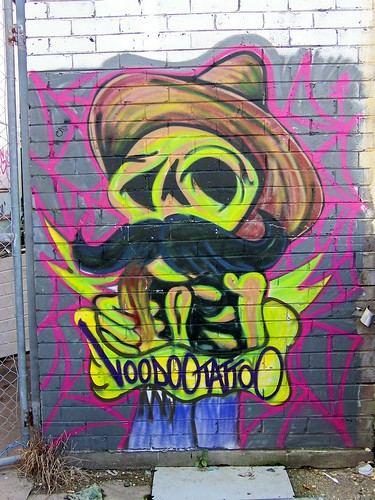 Voodoo Tattoo graffitti at back of Annousa Building Donnison Street Gosford