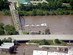 Mohawk River Flooding at Canajoharie, NY on June 28, 2006.