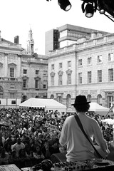 Mr Hudson playing Somerset House