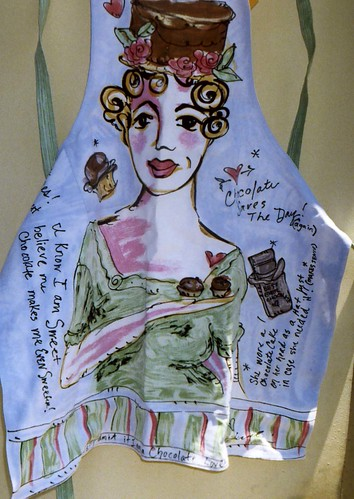 Julia Junkin Apron, Chocolate theme