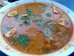 A HUGE bowl of Tom Yum Soup