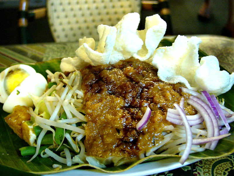 singapore banana leaf gado gado