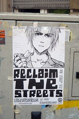 'Reclaim the streets' poster