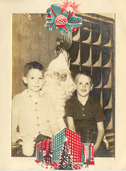 Dan, Ray, and Santa, 1958?